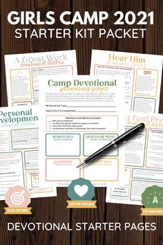 Girls Camp Handouts, Devotional Topics, Secret Sister Gifts, Work Camp, Sleepaway Camp, Youth Camp, Jewelry Tags, Camping Theme, Let God