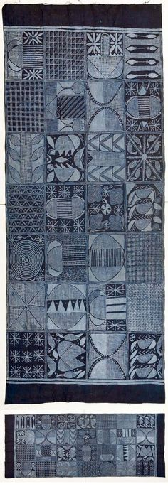 Africa | Adire cloth made by Limota / Mikola Oladimeji | Ibadan, Nigeria | 20th century | Cotton; resist indigo dying
