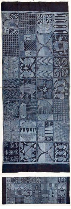 Africa | Adire cloth made by Limota / Mikola Oladimeji | Ibadan, Nigeria | 20th century | Cotton; resist indigo dying