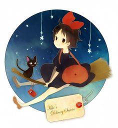 Button Tags: Anime, Studio Ghibli, Kiki's Delivery Service, Pixiv, Kiki