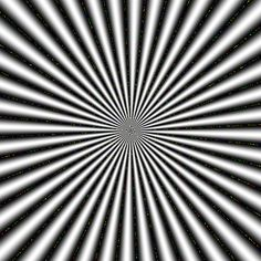 """Op Art  """"A pulser""""  The figure appears to scintillate. Moreover, rings of subjective color are observed."""
