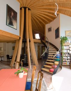 House design eco tiny homes new Ideas Eco Casas, Yurt Home, Yurt Living, Silo House, Geodesic Dome Homes, Recycled House, Country Fireplace, Dome House, Secret Rooms