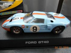 Scalextric 1968 Ford GT40 #9 with lights - 1/32 slot car C2403 - http://hobbies-toys.goshoppins.com/slot-cars/scalextric-1968-ford-gt40-9-with-lights-132-slot-car-c2403/