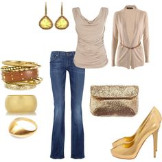 Yellow accessories & Jeans