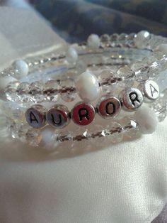 Personalised Bracelet white