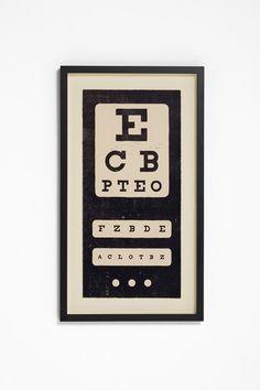 Eye Chart by WrigleyStudio on Etsy, $38.00