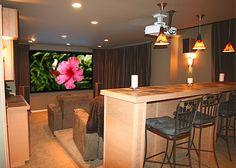 kitchenette, music room, x-box room, and home theater - My husband's dream bonus room.