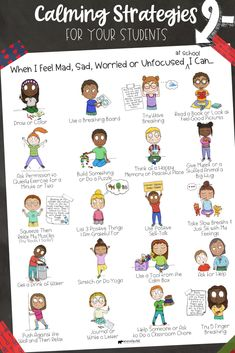 Self-Regulation Calming Strategies for Your Students! A Calm Corner Toolbox w/ Mindfulness Exercises - Self-Regulation Calming Strategies for Your Students! A Calm Corner Toolbox w/ Mindfulness Exercises - Coping Skills List, Coping Skills Activities, Teaching Social Skills, Counseling Activities, Social Emotional Learning, Therapy Activities, Emotional Regulation, Self Regulation, Behavior Management