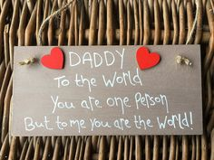 MadeAt94 Personalised Wooden Gifts Plaque for Daddy Brown Dad Grandad: Amazon.co.uk: Kitchen & Home Birthday Gift For Him, Unique Birthday Gifts, Boy Birthday, Happy Birthday, You Are The World, Wooden Gifts, Wall Plaques, Keep It Cleaner, Gifts For Him