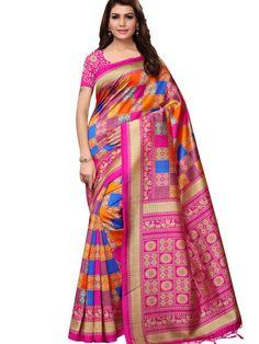 4d753a8bb62370 Demanding Pink Colored Festive Wear Mysore Silk Saree For Women