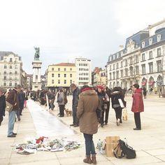 Manifestation #jesuischarlie Plade de Jaude à Clermont-Ferrand #clermont princessekyonyuu's photo on Instagram