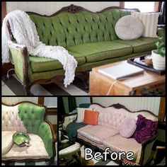 Painted Couch / Sofa Makeover