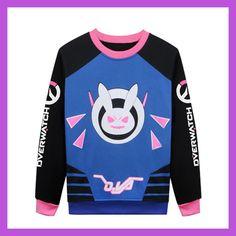 2 Types Autumn Kawaii Women D.va Sweatshirts Female Angela Ziegler Sweatshirts D.va Cosplay Pullovers Girls Mercy Hoodies