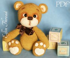 Elfin Thread  Teddy Bear Amigurumi PDF Pattern  by ElfinThread