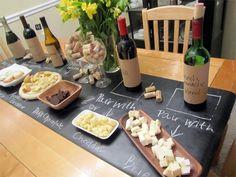 DIY chalkboard table runner for effortless dinner parties