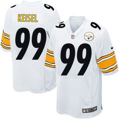 Nike Limited Youth Pittsburgh Steelers http://#99 Brett Keisel White NFL Jersey$69.99