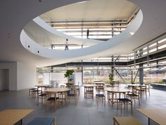 Office by suppose design office Imabari Japan 02 Office by suppose design office, Imabari Japan Healthcare Architecture, Modern Architecture Design, Commercial Architecture, Interior Architecture, Interior Design Classes, Studio Interior, Commercial Interior Design, Cafeteria Design, Office Space Design