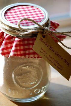 Mocha Cocoa Mix in a jar.  Teachers Christmas Gift!