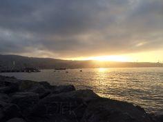 Atardecer. Muelle Barón, Valparaíso