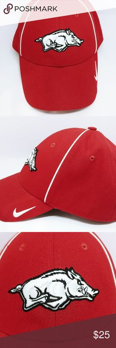 badb589baa7ab Shop Men s Nike Red size OS Hats at a discounted price at Poshmark.  Description  Listed is a Arkansas Razorbacks Nike Dri-Fit Hat in great  condition.