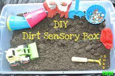 Dirt and/or Mud sensory box