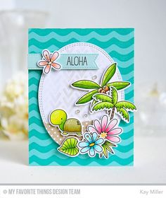 Handmade card from Kay Miller featuring the Polynesian Paradise stamp set and Die-namics
