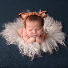 Knitting/Crochet PATTERN Fox Bonnet Newborn Sized