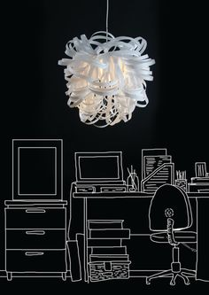 Handmade modern ceiling lights.