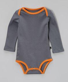 Look at this #zulilyfind! Storm & Tangerine Organic Bodysuit - Infant by AXL Brand #zulilyfinds