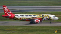 Air Asia Airbus A320-200 (Semangat Harimau Muda)