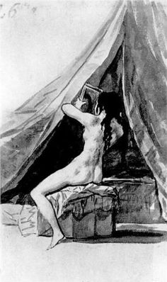 Joven desnuda mirándose al espejo  - Francisco de Goya