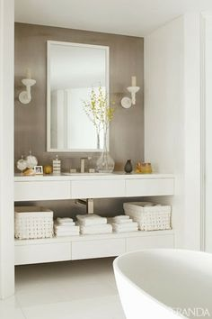 amenajari, interioare, decoratiuni, decor, design interior, culori neutre, contemporan, elegant, apartament,  baie