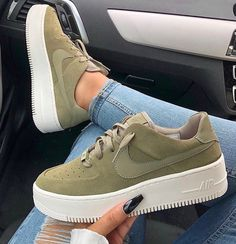 new products c34c6 0fdff Nike Air Force 1 Sage Nike Air Force 1 Sage Low COLOR  Olive FIT  True to  size US Womens Sizes please see size chart Select from two options  Outside  Logos ...