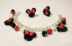 Mickey Mouse y pulsera aretes pulsera de regalo por trendunique