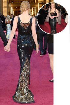 The best red carpet dresses from the back: Nicole Kidman in L'Wren Scott at the 2013 Academy Awards.