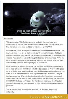 Funny pictures about Probably The Most Important Scene In Any Pixar Movie Ever. Oh, and cool pics about Probably The Most Important Scene In Any Pixar Movie Ever. Also, Probably The Most Important Scene In Any Pixar Movie Ever photos. Disney Pixar, Disney And Dreamworks, Walt Disney, Disney Nerd, Disney Love, Disney Magic, Disney Stuff, Fandoms, Film Anime