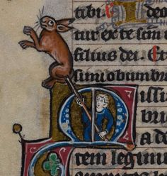 Rabbit kebab Book of Hours, Use of Maastricht ('The Maastricht Hours'), first quarter of the 14th century. British Library, Stowe MS 17, f. 48v.