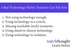 5 Bad Technology Habits Teachers Can Fall Into. Do any of these sound familiar to you? #technology