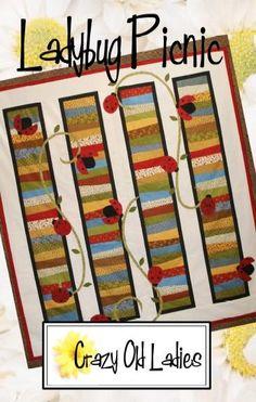 Ladybug Picnic pattern by crazyoldladies on Etsy. $9.00, via Etsy.