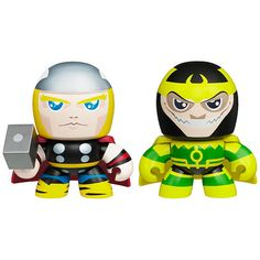 WANT!!!!  The #Avengers Mini Muggs Action Figure 2-Pack - #Thor & #Loki