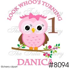 OWL L.ook Whoo's Who's Turning one 1 2 3 4 5 6 7 by TheTutuFairy, $9.99