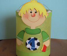 Herbst - Laterne Fußballer (Martinslaterne) - ein Designerstück von Piratenbraut71 bei DaWanda