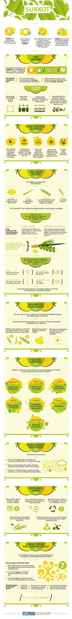 Sukkot Infographic (beguns Wednesday night, September 18, 2013) thanks Aish