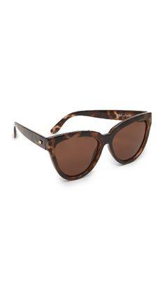 Le specs tortoise cat eye sunglasses