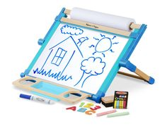 Melissa & Doug Double-Sided Magnetic Tabletop Art Easel - Dry-Erase Board and Chalkboard: Amazon.com.au: Toys & Games