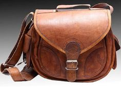 Steampunk Leather Camera Bag Leather Purse Women por CamShop11