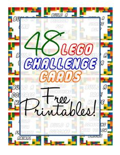 These Lego challenge cards are great for kids age 5 and up. Your child draws a card and then creates whatever the card says. Great activity for rainy days! Lego Activities, Winter Activities For Kids, Rainy Day Activities, Indoor Activities For Kids, Outdoor Activities, Lego Challenge, Challenge Cards, Lego Math, Free Lego