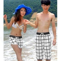 Brand: N/A; Quantity: 1; Color: White + Black; Material: 35% cotton + 65% polyester; Gender: Men; Suitable for: Adults; Style: Casual; Size: XXL; Waist Girth: 81 cm; Inseam: 23 cm; Hips Girth: 130 cm; Total Length: 57 cm; Suitable for Height: 175~180 cm; Packing List: 1 x Beach shorts; http://j.mp/1tpeAPy