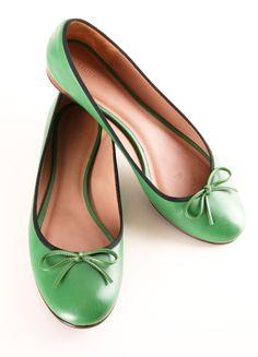 Celine Green Ballet Flats