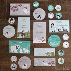 Huge collection of polar winter printable gift tags by Lia Griffith